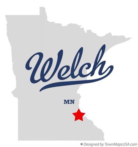 Map of Welch, MN, Minnesota