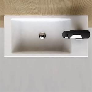 Lave Main Faible Encombrement : lave main gain de place 50x25 cm en c ramique pure ~ Edinachiropracticcenter.com Idées de Décoration