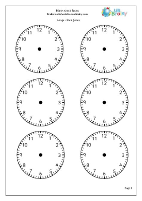 clock faces time worksheets  year  age