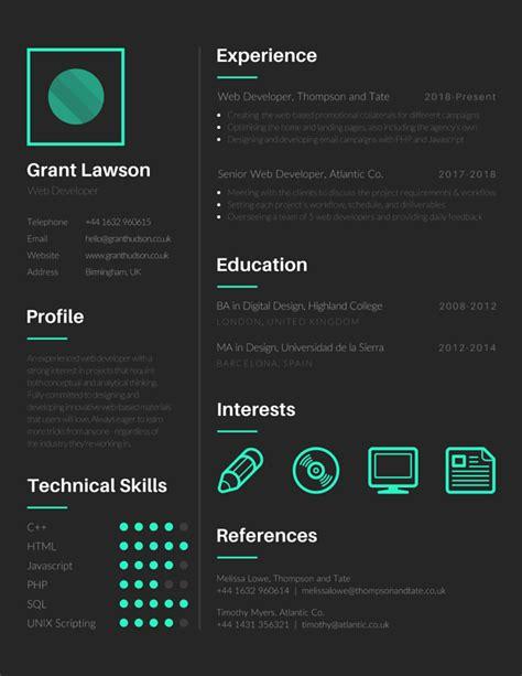 resume templates canva