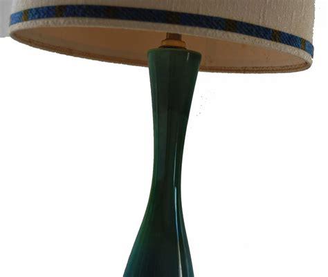 pair  mid century modern ceramic table lamps