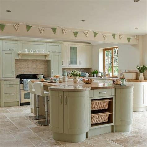 green kitchen decor and shaker style kitchen kitchen decorating 1403