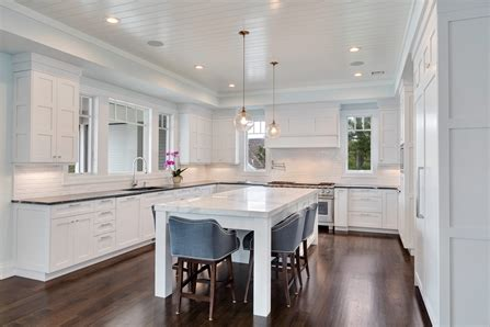 white transitional kitchen mantoloking  jersey