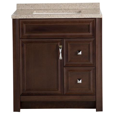 bathroom vanity storage  solid surface top cognac