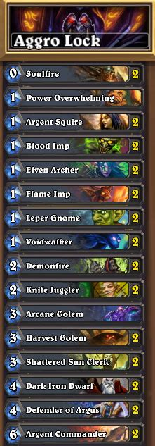 Warlock Aggro Deck January by Hearthstone Features Guide Crafting And Deckbuilding For