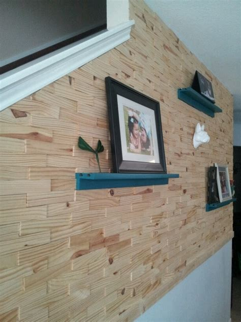 wood shim wall diy home accessories recycled house home
