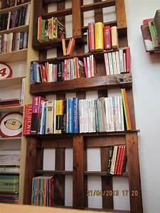 étagère En Palette : etagere a livres palette ~ Dallasstarsshop.com Idées de Décoration