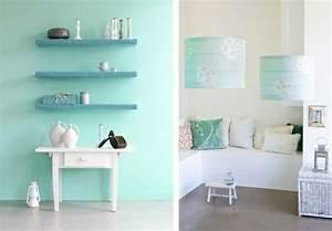 Holz Mit Wandfarbe Streichen : wandfarbe mintgr n verleiht ihrem wohnraum einen magischen flair ~ Markanthonyermac.com Haus und Dekorationen