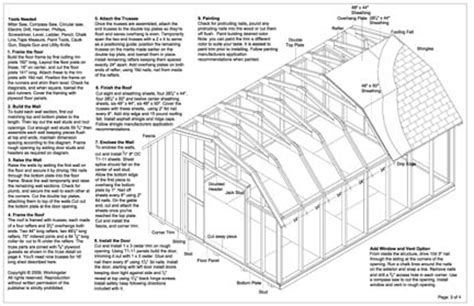 shed plans   construct   shed