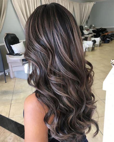dark hair  heavy platinum highlights perfect