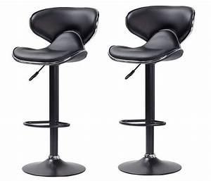 Petit Tabouret Pas Cher : tabouret de bar noir cobra chaise de bar tabouret de bar topkoo ~ Teatrodelosmanantiales.com Idées de Décoration