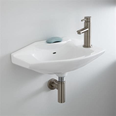 leo porcelain wall mount bathroom sink bathroom