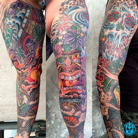 mark longenecker ink master tropical sleeve tattoo