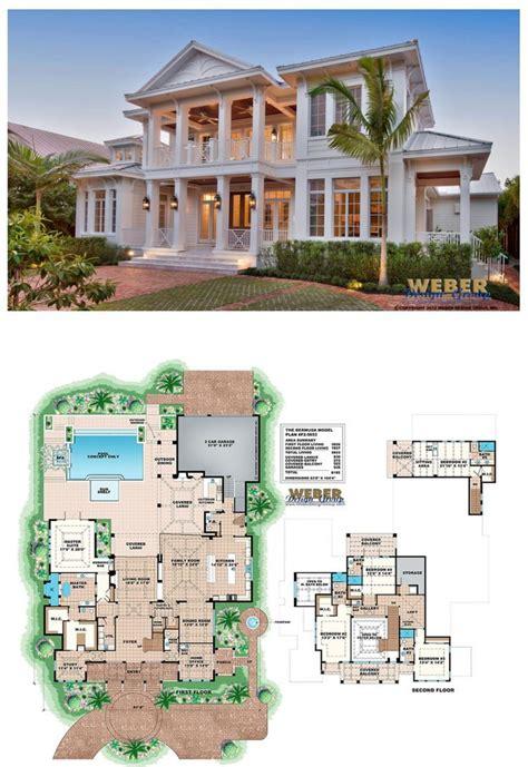 west indies house plan  story caribbean beach home floor plan house plans mansion beach