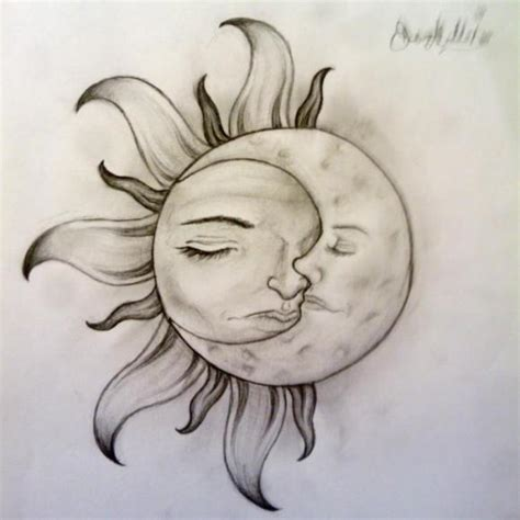 Sun Moon Nature Drawings Pictures Ideas