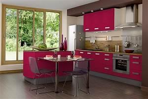 deco cuisine couleur framboise With deco cuisine couleur