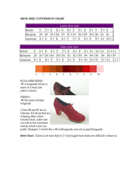 size chart template   templates   word
