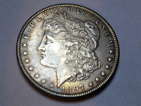1897 Morgan Silver Dollar From 50 Year Old Collection