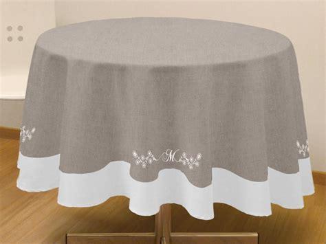 nappe cuisine nappe coton ronde table de cuisine