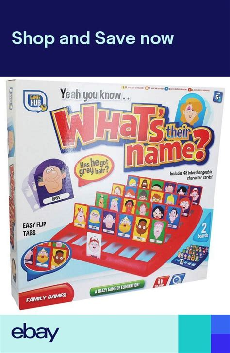 GUESS WHO WHATS THEIR NAME BOARD GAME 48 CHARACTERS FUN ...