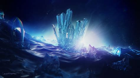 lacza crystal abstract digital art wallpapers hd