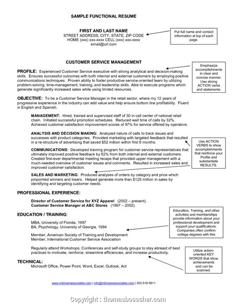 Functional Resume Sle by Print Retail Manager Functional Resume Resumes Retail