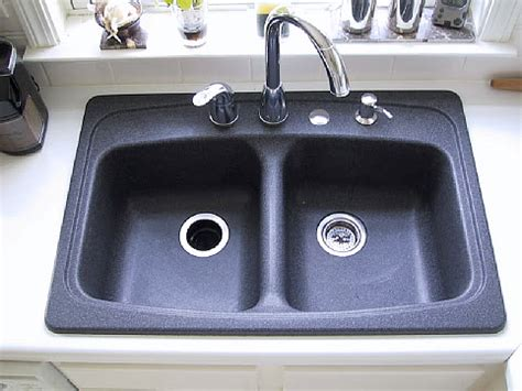 on your black granite composite sink on a regular