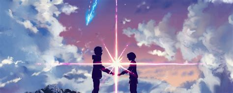 Anime Dual Monitor Wallpaper - your name anime dual monitor wallpaper 3840 215 1080 7 tsudoi me