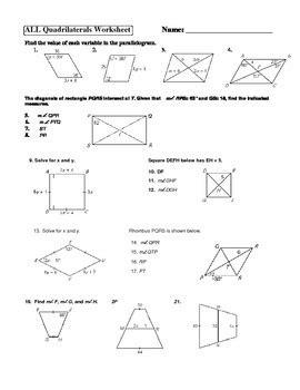 geometry parallelogram rectangle square rhombus trapezoid