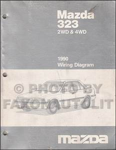1990 Mazda Protege 4wd And 323 Wiring Diagram Manual Original