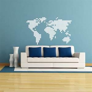Carte Du Monde Sticker : sticker carte du monde en 2d stickers villes et voyages pays et voyages ambiance sticker ~ Dode.kayakingforconservation.com Idées de Décoration