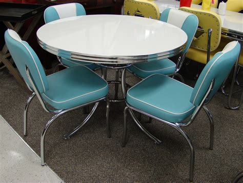 retro dining table and chairs for cool retro dinettes 9754