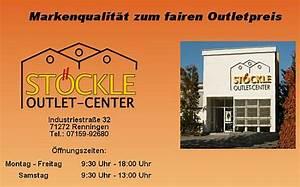 Ledersofas Outlet Und Fabrikverkauf : outlet center st ckle renningen adressen fabrikverkauf deutschland und europa ~ Bigdaddyawards.com Haus und Dekorationen