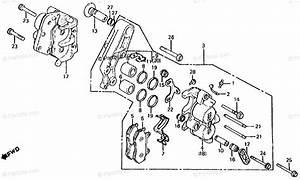 Honda Motorcycle 1984 Oem Parts Diagram For Front Brake