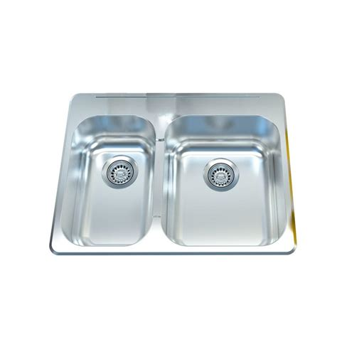 27 inch kitchen sink filament design cantrio deck mounted stainless steel 27 in