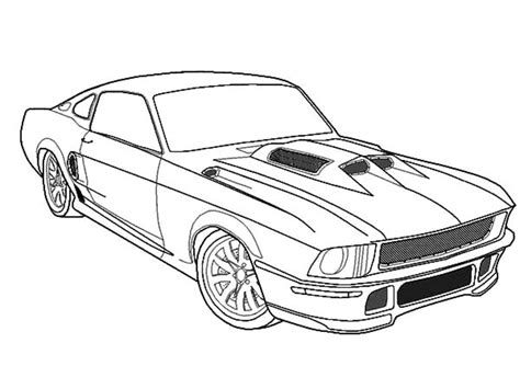 67 Mustang Drawing At Getdrawingscom Free For Personal