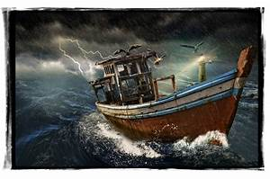 Old Boat In Storm Free Stock Photo Public Domain Pictures