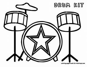 Musical Drums Coloring | Drums | Free | Musical Drum Kits ...