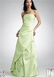 Lime green Strapless Satin Ball Gown Rhinestone