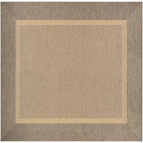 9 X 9 Outdoor Rug by Couristan Recife Stria Texture Coffee 9 Ft X 9 Ft