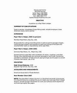 Pipefitter Resume Template