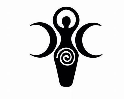 Goddess Triple Symbol Pagan Moon Wiccan Decal