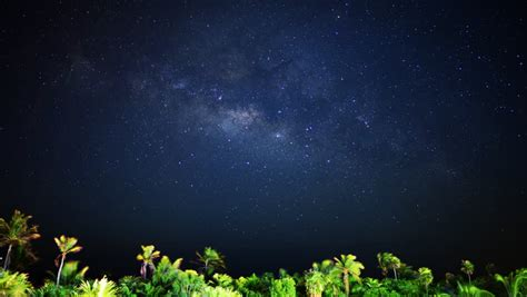 Astrophotography Time Lapse Milky Way Galaxy Moon