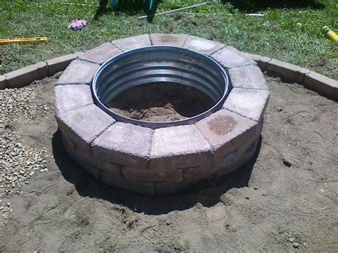Homemade Fire Pit Is A Perfect Accent For Your Backyard
