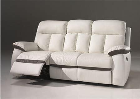 canapé cuir 3 places relax electrique canapé 2 places 3 places relax électrique en cuir blanc