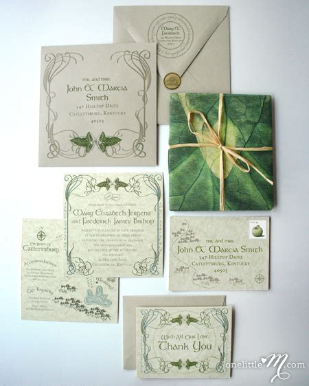 lord   rings wedding invitations yahoo image search