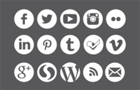 social media icons web style standards csuf