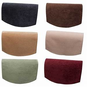 Plain soft touch chenille single chairback antimacassar for Chair back covers for leather chairs