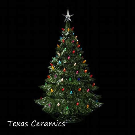 lighted ceramic christmas tree 24 inches by texasceramics