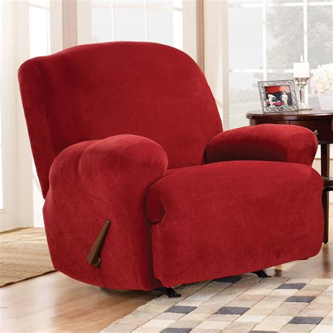 recliner chair slipcovers sure fit stretch pique medium recliner slipcover chair